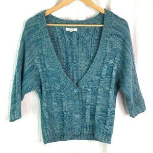 dELiA's Cardigan Sweater Deep V Button Front Teal